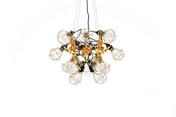 共栄デザイン reconstruction chandelier (工業用クリップライト シャンデリア)