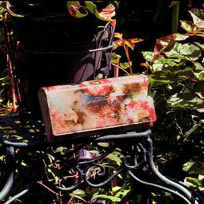 【FRUTTI DI BOSCO】アートレザーの長財布ALBA TALIA(アルバ ターリア) 代官山隠れ家ブランド フルッティディボスコ レディース ピンク エナメル ハラコ 女性 本革 ウォレット