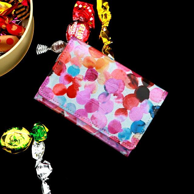 レトロポップなアートレザーの名刺ケース Jolly CANDY(ジョリー キャンディ)【FRUTTI DI BOSCO】