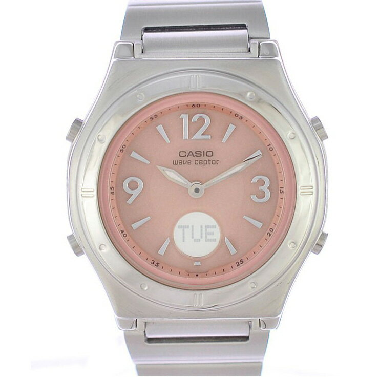 カシオ レディース腕時計 WAVE CEPTOR LWA-M141D-4AJF CASIO 文字盤ピンク ソーラー電波 SS 【新品】
