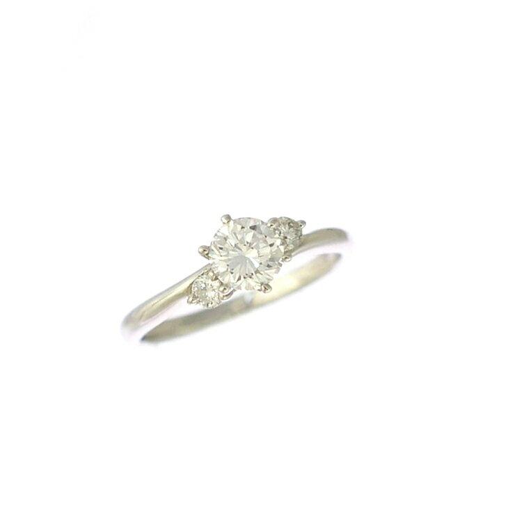 リング プラチナ900 ダイヤモンド ラウンド スリーストーン 指輪 Pt900 サイズ:8.5号 ジュエリー レディース 【中古】【送料無料】【美品】