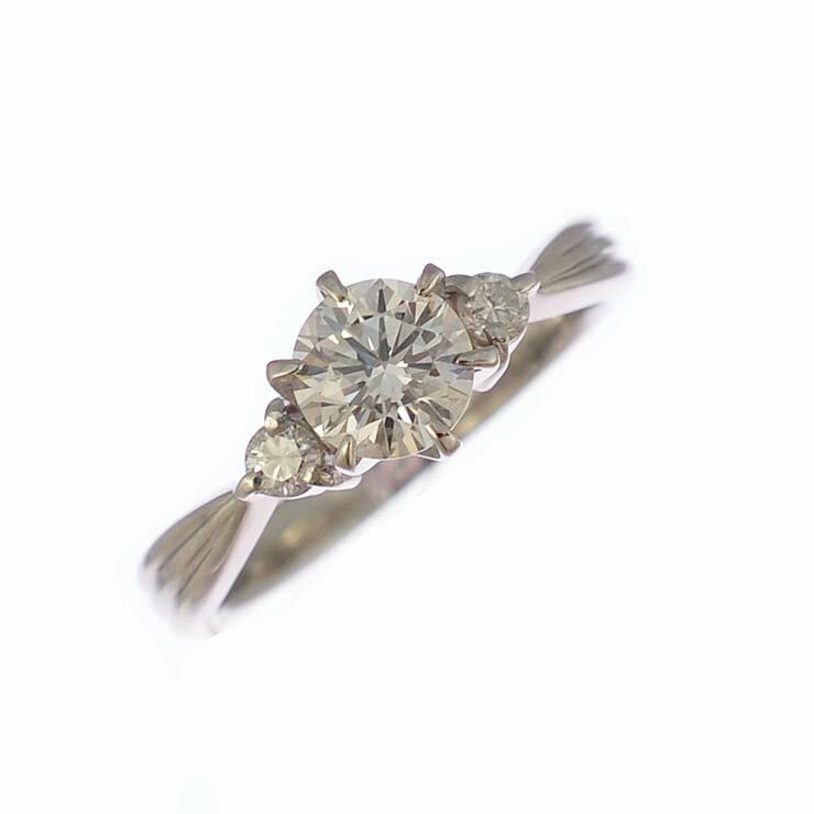 リング プラチナ900 ダイヤモンド ラウンド Pt900 指輪 サイズ:9号 ジュエリー レディース 【中古】【送料無料】【美品】