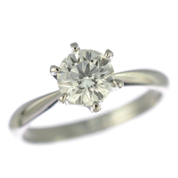 プラチナ900 リング ダイヤモンド ソーティング付き 10号【美品】【中古】【送料無料】