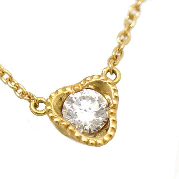 ペンダント ネックレス K18 イエローゴールド ダイヤモンド K18YG レディース ジュエリー ダイヤ 【中古】【送料無料】【美品】