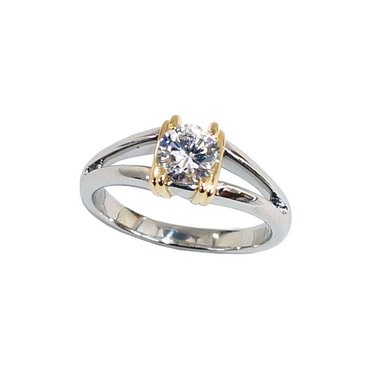 リング/指輪/ソーティング付/Pt950/K18/ダイヤモンド/0.576ct/10.5号 [中古][送料無料]