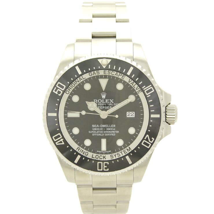 ロレックス メンズ腕時計 シードゥエラー ディープシー 116660 ランダムシリアル ROLEX SS 自動巻き ブラック文字盤【中古】【送料無料】