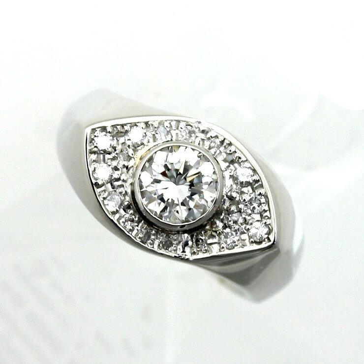 リング プラチナ900 ダイヤモンド Pt900 指輪 ラウンドブリリアンカット サイズ:12号【中古】【送料無料】