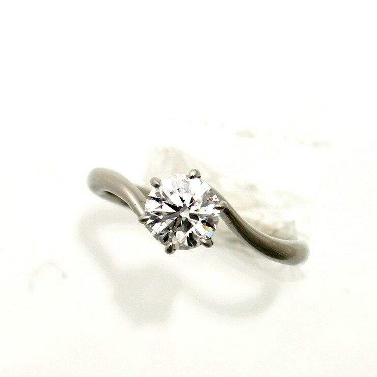 リング プラチナ900 ダイヤモンド Pt900 一粒 サイズ : 9号 ソーティング付【中古】【送料無料】