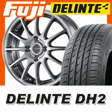 【送料無料】 205/60R16 16インチ BRIDGESTONE ブリヂストン エコフォルム SE-12 6.5J 6.50-16 DELINTE デリンテ DH2(限定) サマータイヤ ホイール4本セット