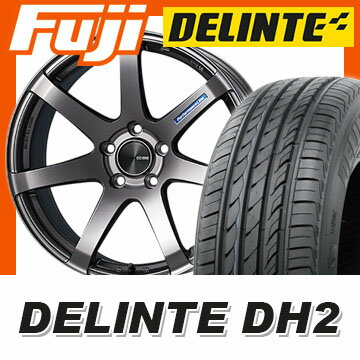 【送料無料】 225/55R18 18インチ ENKEI エンケイ PF07 8J 8.00-18 DELINTE デリンテ DH2(限定) サマータイヤ ホイール4本セット