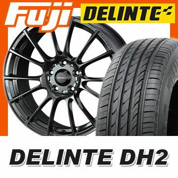 【送料無料】 235/45R18 18インチ WEDS ウェッズスポーツ SA-72R 7.5J 7.50-18 DELINTE デリンテ DH2(限定) サマータイヤ ホイール4本セット