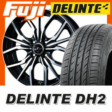 【送料無料】 205/50R16 16インチ WEDS ウェッズ レオニス LV 6J 6.00-16 DELINTE デリンテ DH2(限定) サマータイヤ ホイール4本セット