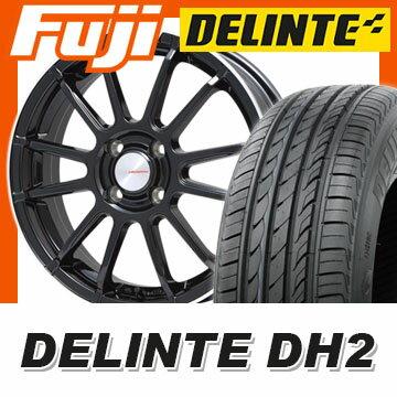 【送料無料】 205/50R16 16インチ LEHRMEISTER LM-S トスカーナ6 (ブラック/リムポリッシュ) 6.5J 6.50-16 DELINTE デリンテ DH2(限定) サマータイヤ ホイール4本セット