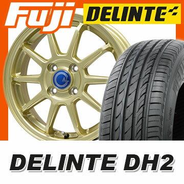 【送料無料 エブリイワゴン】 165/50R15 15インチ BRANDLE-LINE ブランドルライン カルッシャー ゴールド 4.5J 4.50-15 DELINTE デリンテ DH2(限定) サマータイヤ ホイール4本セット