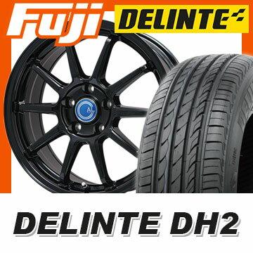 【送料無料】 225/40R18 18インチ BRANDLE-LINE ブランドルライン カルッシャー ブラック 7.5J 7.50-18 DELINTE デリンテ DH2(限定) サマータイヤ ホイール4本セット