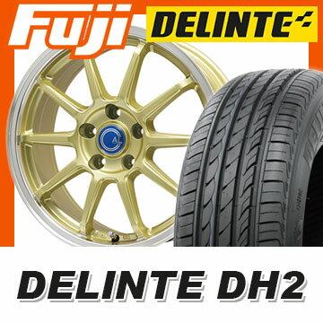 【送料無料】 205/55R16 16インチ BRANDLE-LINE ブランドルライン カルッシャー ゴールド/リムポリッシュ 6.5J 6.50-16 DELINTE デリンテ DH2(限定) サマータイヤ ホイール4本セット