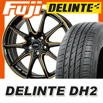 【送料無料 ノア ヴォクシー】 215/50R17 17インチ HOT STUFF ホットスタッフ クロススピード プレミアムRS10 シングルマシニング 7J 7.00-17 DELINTE デリンテ DH2(限定) サマータイヤ ホイール4本セット