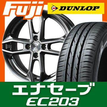 【送料無料】 185/55R16 16インチ TWS ブラックレーシング LM100 6.5J 6.50-16 DUNLOP ダンロップ エナセーブ EC203 サマータイヤ ホイール4本セット【DU17sum】