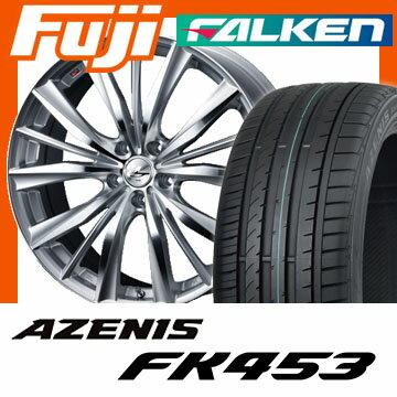 【送料無料】 225/45R18 18インチ WEDS ウェッズ レオニス VX 8J 8.00-18 FALKEN ファルケン アゼニス FK453(限定) サマータイヤ ホイール4本セット