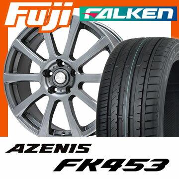 【送料無料】 225/45R18 18インチ BIGWAY ビッグウエイ B-WIN ISX(メタリックグレー) 7.5J 7.50-18 FALKEN ファルケン アゼニス FK453(限定) サマータイヤ ホイール4本セット