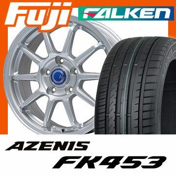 【送料無料】 225/45R18 18インチ BRANDLE-LINE ブランドルライン カルッシャー メタリックシルバー 7.5J 7.50-18 FALKEN ファルケン アゼニス FK453(限定) サマータイヤ ホイール4本セット