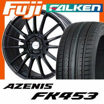 【送料無料】 225/40R18 18インチ LEHRMEISTER LM-S トレント15 (ブラック/リムポリッシュ) 7.5J 7.50-18 FALKEN ファルケン アゼニス FK453(限定) サマータイヤ ホイール4本セット