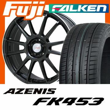 【送料無料】 225/40R18 18インチ LEHRMEISTER LM-S トスカーナ6 (ブラック/リムポリッシュ) 7.5J 7.50-18 FALKEN ファルケン アゼニス FK453(限定) サマータイヤ ホイール4本セット