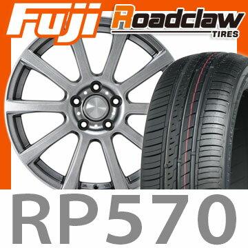 【送料無料】 215/60R16 16インチ カジュアルセット タイプB17 メタリックグレー 6.5J 6.50-16 ROADCLAW ロードクロウ RP570+(限定) サマータイヤ ホイール4本セット
