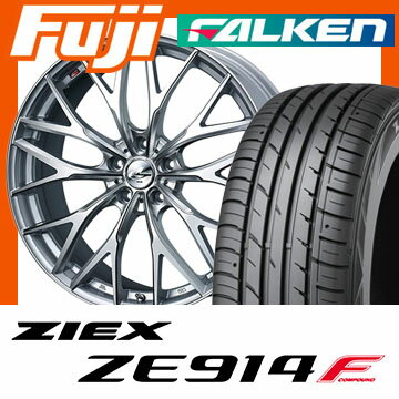 【送料無料】 235/50R18 18インチ WEDS ウェッズ レオニス MX 8J 8.00-18 FALKEN ファルケン ジークス ZE914F サマータイヤ ホイール4本セット