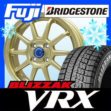 【送料無料】 BRIDGESTONE ブリヂストン ブリザック VRX 185/65R14 14インチ スタッドレスタイヤ ホイール4本セット BRANDLE-LINE ブランドルライン カルッシャー ゴールド 5.5J 5.50-14