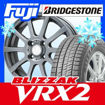 【送料無料】 BRIDGESTONE ブリヂストン ブリザック VRX2 195/60R15 15インチ スタッドレスタイヤ ホイール4本セット BRANDLE ブランドル 565T 5.5J 5.50-15