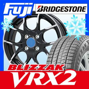 【送料無料】 BRIDGESTONE ブリヂストン ブリザック VRX2 165/70R14 14インチ スタッドレスタイヤ ホイール4本セット BRANDLE ブランドル M69B 5J 5.00-14