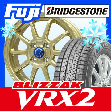 【送料無料】 BRIDGESTONE ブリヂストン ブリザック VRX2 165/70R14 14インチ スタッドレスタイヤ ホイール4本セット BRANDLE-LINE ブランドルライン カルッシャー ゴールド 5.5J 5.50-14