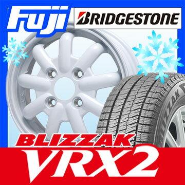 【送料無料】 BRIDGESTONE ブリヂストン ブリザック VRX2 155/65R14 14インチ スタッドレスタイヤ ホイール4本セット BRANDLE-LINE ブランドルライン ストレンジャーKST-9 (ホワイト) 4.5J 4.50-14