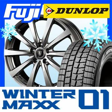 【送料無料】 DUNLOP ダンロップ ウィンターMAXX 01 WM01 175/60R16 16インチ スタッドレスタイヤ ホイール4本セット MANARAY ユーロスピード G10 6J 6.00-16【DU17win】