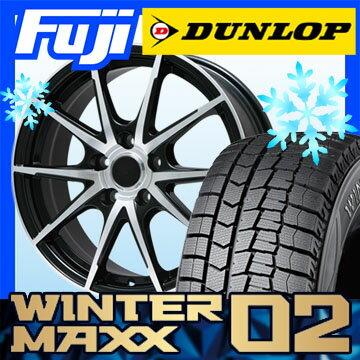 【送料無料】 DUNLOP ダンロップ ウィンターMAXX 02 WM02 225/60R18 18インチ スタッドレスタイヤ ホイール4本セット BRANDLE ブランドル 039B 7.5J 7.50-18【DU17win】
