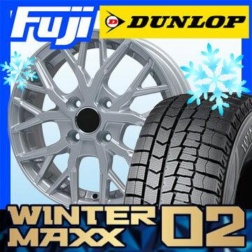 【送料無料】 DUNLOP ダンロップ ウィンターMAXX 02 WM02 195/55R15 15インチ スタッドレスタイヤ ホイール4本セット BRANDLE ブランドル TM20 5.5J 5.50-15【DU17win】