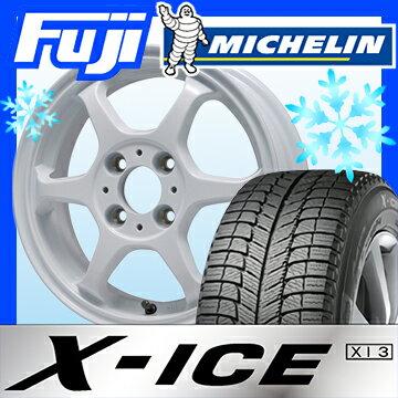 【送料無料】 MICHELIN ミシュラン X-ICE XI3 165/55R15 15インチ スタッドレスタイヤ ホイール4本セット LEHRMEISTER リアルスポーツ カリスマVS6 4.5J 4.50-15