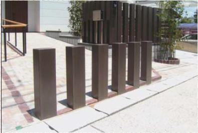 【フェンス】E 枕木風ポール ロングH2600×W190木目調◆送料・代引き手数料無料の格安