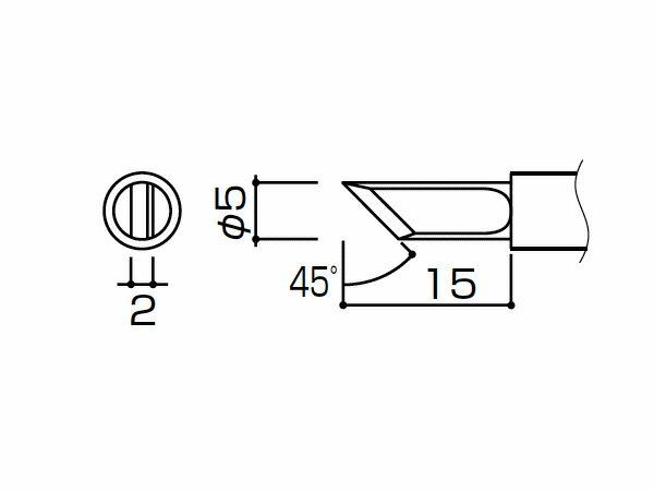 白光(HAKKO) はんだこて953用こて先 K型、10本入 T4-K