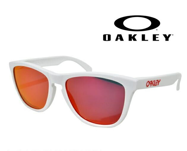 OAKLEY FROGSKINS  POLISHED WHITE/RUBY IRIDIUM  【009013-5517-24-307】