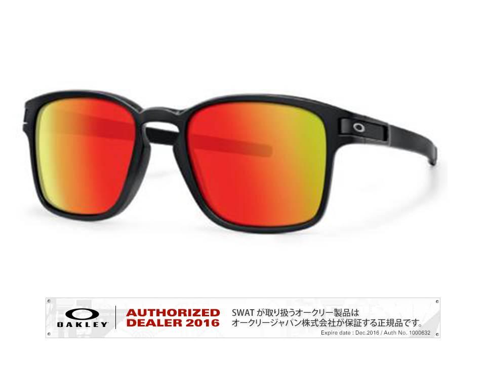 OAKLEY 【(A) LATCH ™ SQ】 Asia Fit Matte Black/Ruby Iridium 【009358-5517-935803】