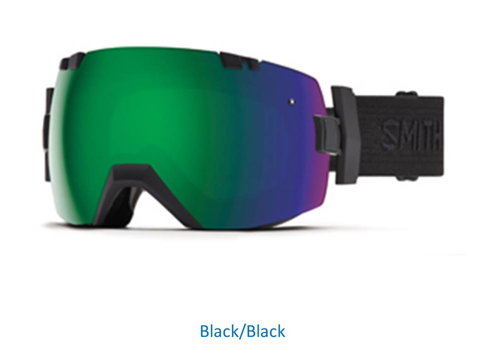 16/17 SMITH I/OX EARLY GOGGLE Black/Black ChromaPop Sun /Blue Sensor Mirror アジアンフィット
