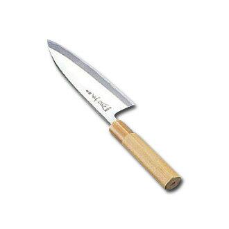 正本 本霞・玉白鋼出刃(片刃)22.5cm〈AMS-40〉