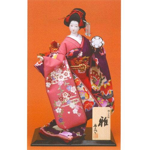 日本人形 尾山人形 極上本頭『寿喜代作 雅 衣裳金彩 鼓 8号』
