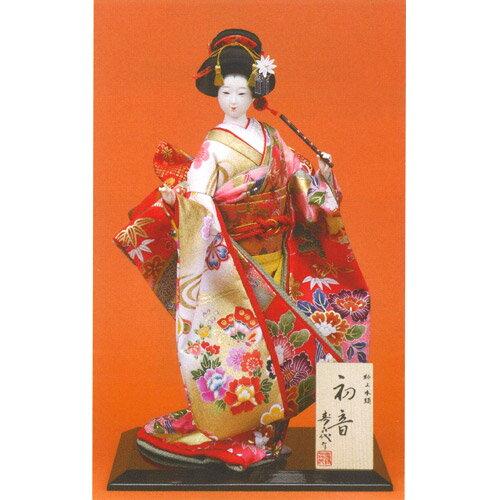 日本人形 尾山人形 極上本頭『寿喜代作 初音 衣裳金彩 笛 8号』