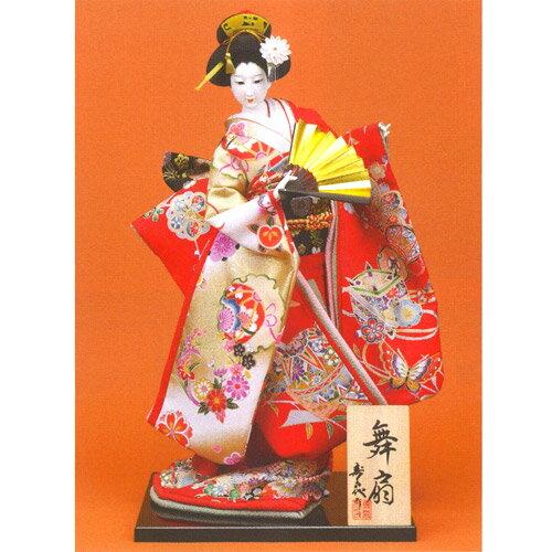 日本人形 尾山人形『寿喜代作 舞扇 正絹 扇 12号』