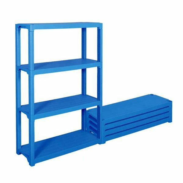 【送料無料】三甲 サンコー プラスチック棚L-2 805588-01・ブルー【代引不可】
