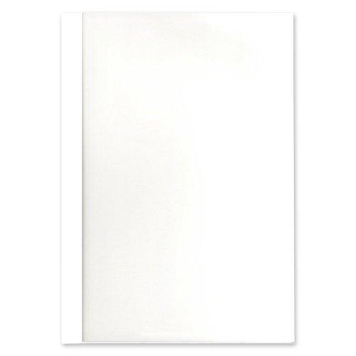 (まとめ)コマース とじ太くん専用カバーB5縦クリア48mm 4120014 ホワイト 00705362 〔まとめ買い×3セット〕