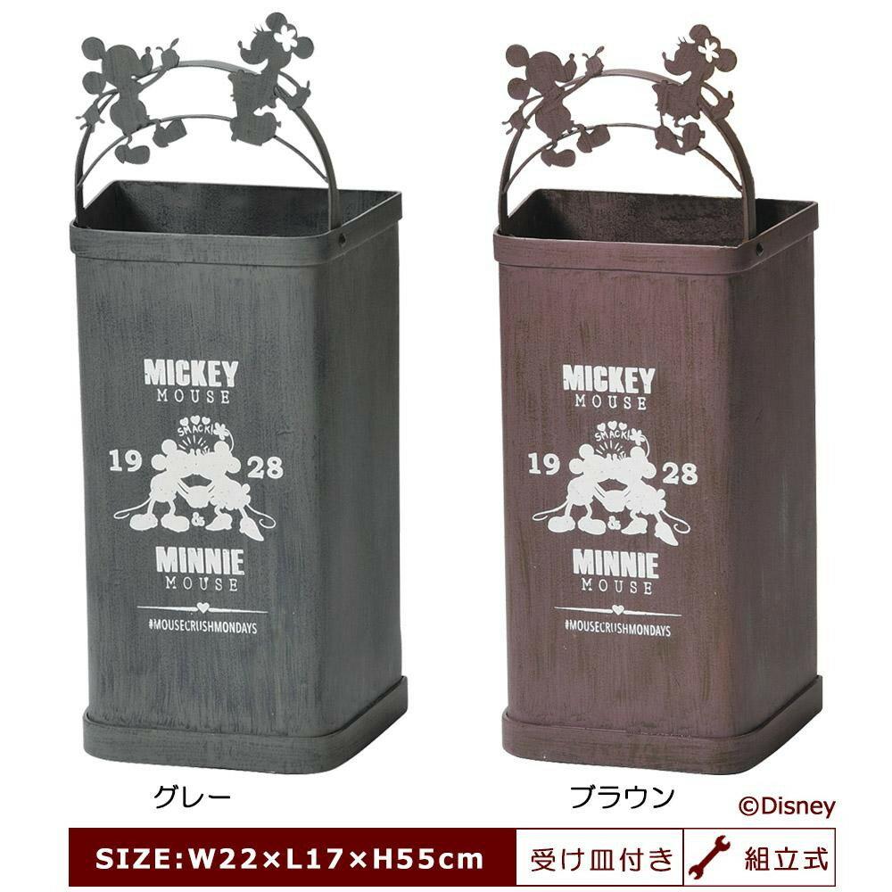 【送料無料】セトクラフト 傘立て(ミッキー&ミニー) グレー・SD-6052-GY-1200